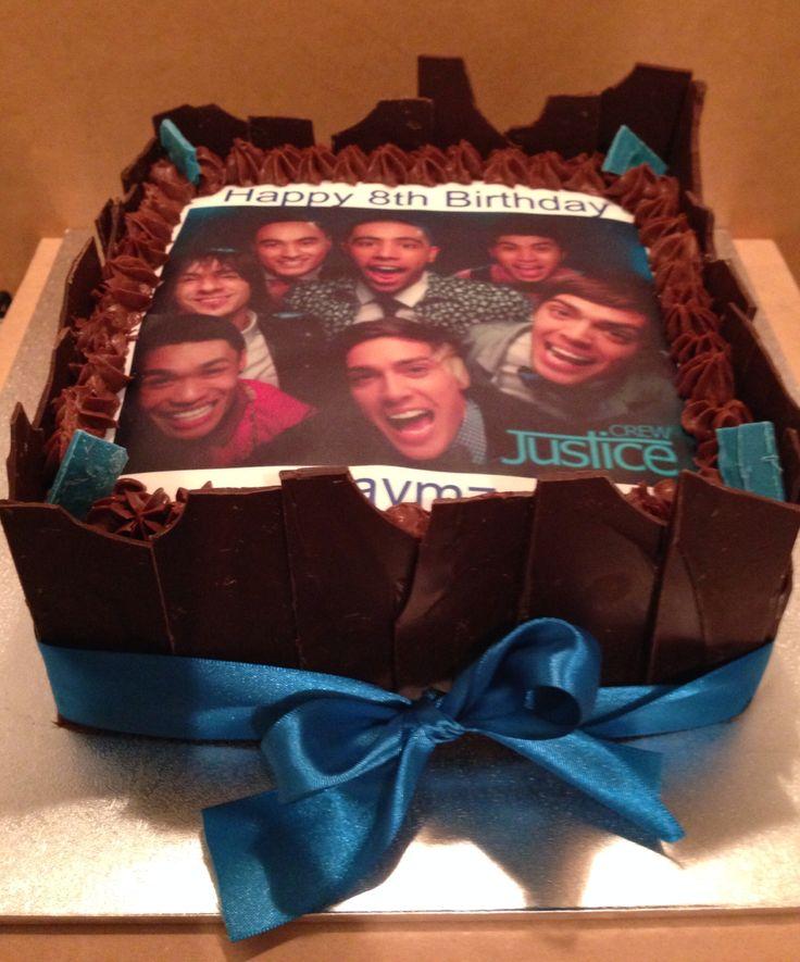 Justice crew choc mud cake