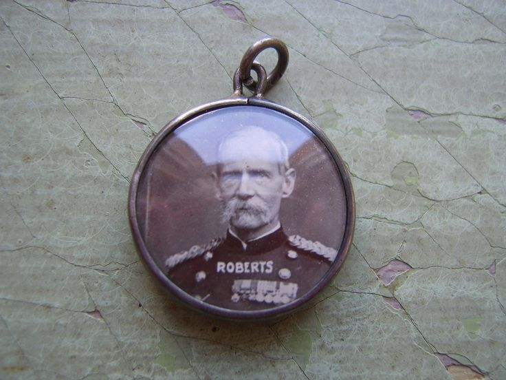 An Antique Silver Pendant/Photo Locket/Fob - Royal/Military Commemorative - Queen Victoria & Field Marshal Roberts - 1800's. by TownshendsEmporium on Etsy
