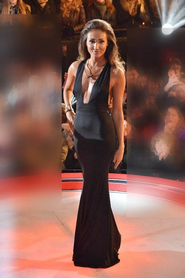 Megan Mckenna Black Prom Dress At Celebrity Big Brother Eviction Night