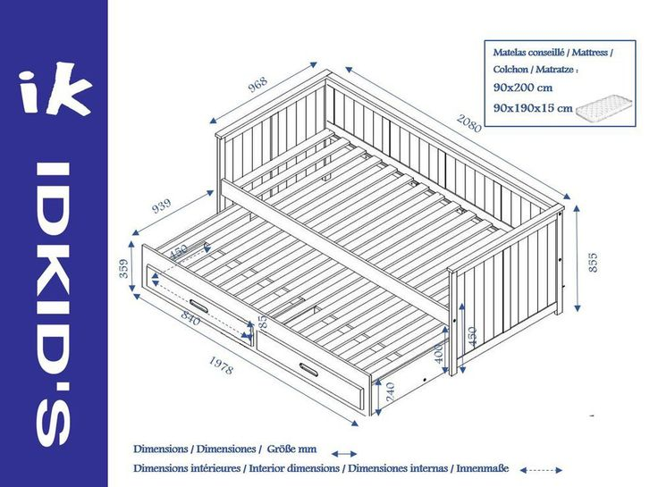 M s de 25 ideas incre bles sobre camas nido en pinterest for Somier con almacenaje