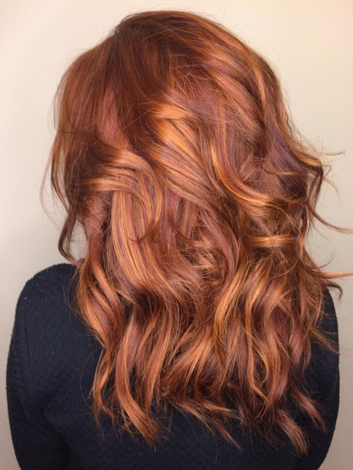 Balayage Red And Caramel. hair color fall, Great hair I'm going to have my hair like that one day everyday.