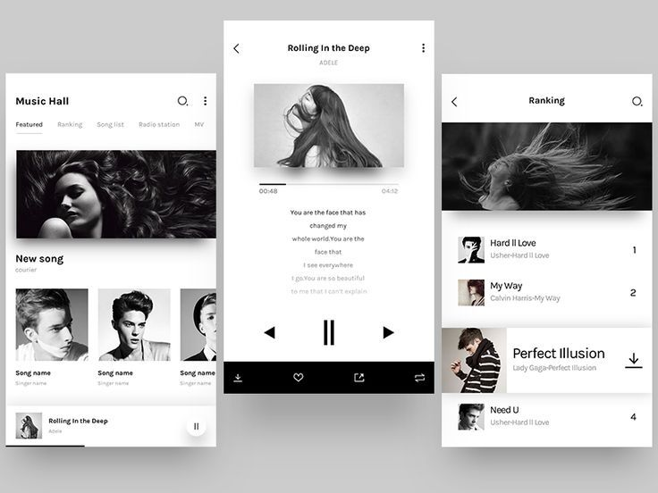 Music APP interface