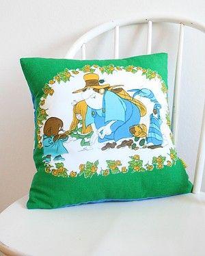 "Pillow made in the fabrric ""Dunderklumpen"" by Per Åhlin / Borås Wafveri. 70s Sweden."