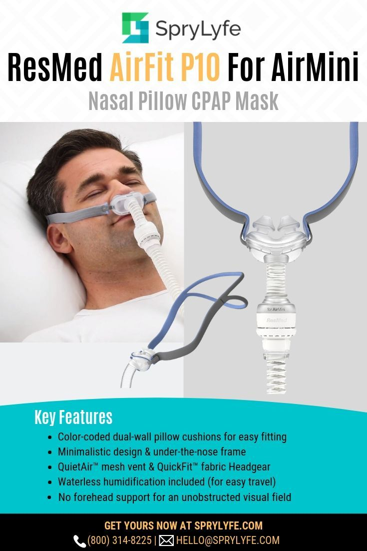 Resmed Airfit P10 For Airmini Nasal Pillows Cpap Mask With