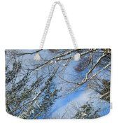 Illusion Oblique View Pine Maple Tree Weekender Tote Bag