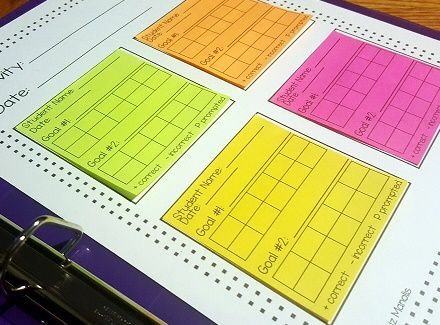 This resource includes data sheets that can be printed on to 3x3 sticky notes. This resource is great for use in the special education classroom, where often many different types of data systems are utilized. Having these data sheets printed on sticky notes allows for quick, easy access when working with multiple students or across multiple settings.