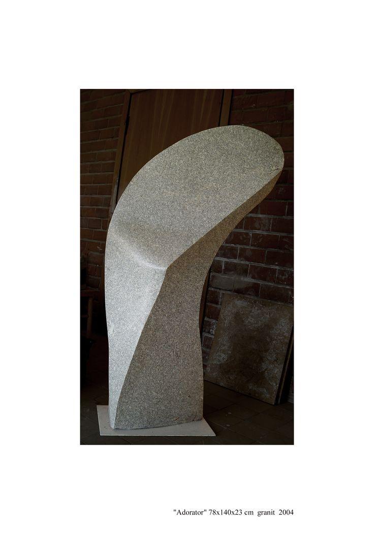 "JANUSZ CZUMACZENKO ""Adorator"", granit"