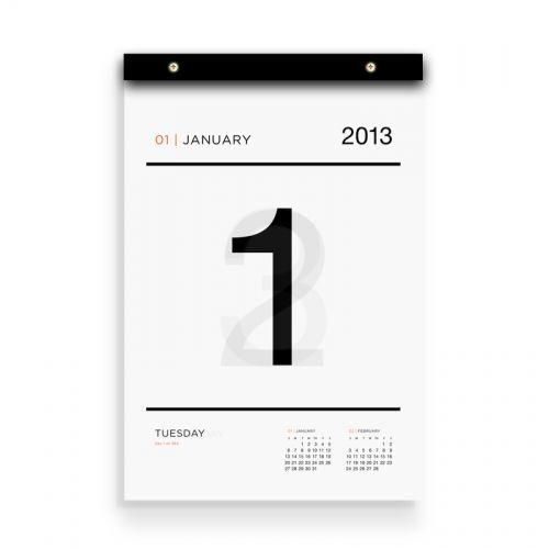 2013 Tissue Calendar | www.russellandhazel.com