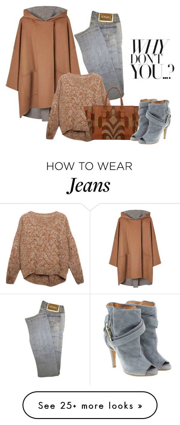 """""""Versace Jeans"""" by penelopepoppins on Polyvore featuring Versace, Gérard Darel, Relaxfeel, Valentino, Maison Margiela, women's clothing, women, female, woman and misses"""
