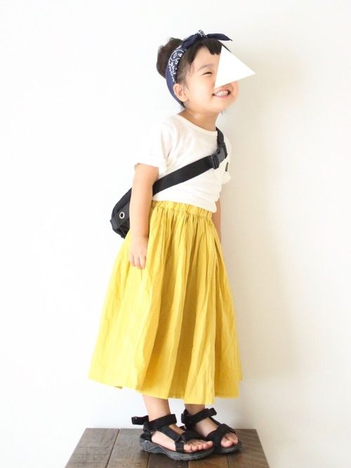 大好きな黄色スカート♡
