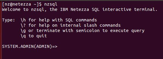 The Netezza nzsql command invokes a SQL command interpreter on the Netezza host…