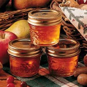 Winter Apple Jelly..just made some with apples we picked...so good!! I left out the cinnamon since we made apple butter last week.