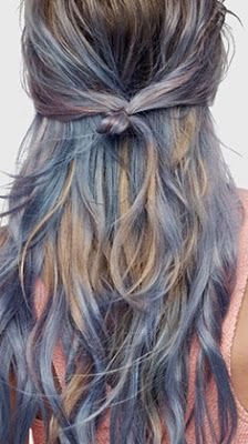 coloration semi permanente loral blue hair pe 2017 - Coloration Semi Permanente Bleu