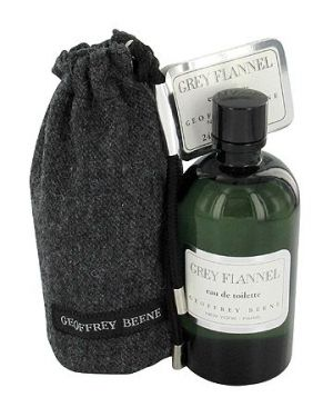 Grey Flannel by Geoffrey Beene--Top notes are galbanum, neroli, petitgrain, bergamot and lemon; middle notes are mimosa, iris, violet, sage, rose, geranium and narcissus; base notes are tonka bean, almond, oakmoss, vetiver and cedar.