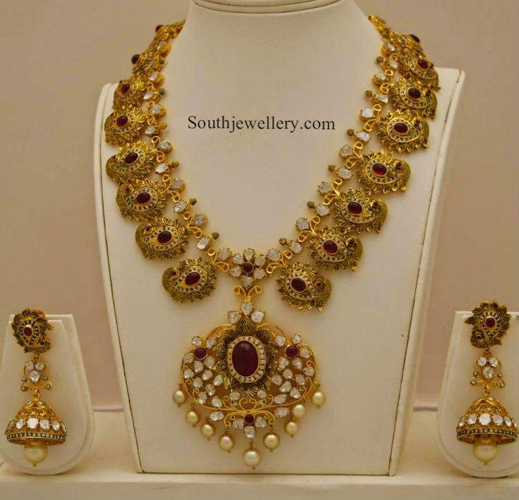 antique mango necklace