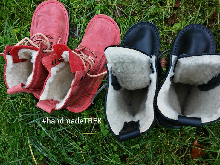 TREK Winter. Warm, handmade, natural leather shoes from Poland