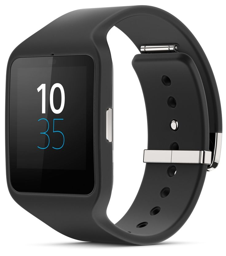 Sony SWR50 1.6-Inch Transflective Display SmartWatch 3 for Android wear Android 4.3 and onwards - Black. Black Classic Band, Water Protected, IP68 rated. 2 days battery life. Sensors: Ambient light sensors, Accelerometer, Compass, Gyro, GPS. Notifications, Voice Commands, Lifelong, Impressive stand-alone functions. Powered By Android Wear - Useful information when you need it, Apps for everything.