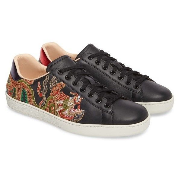 9f3e7ce48cb Men s Gucci New Ace Dragon Sneaker (€675) ❤ liked on Polyvore featuring  men s