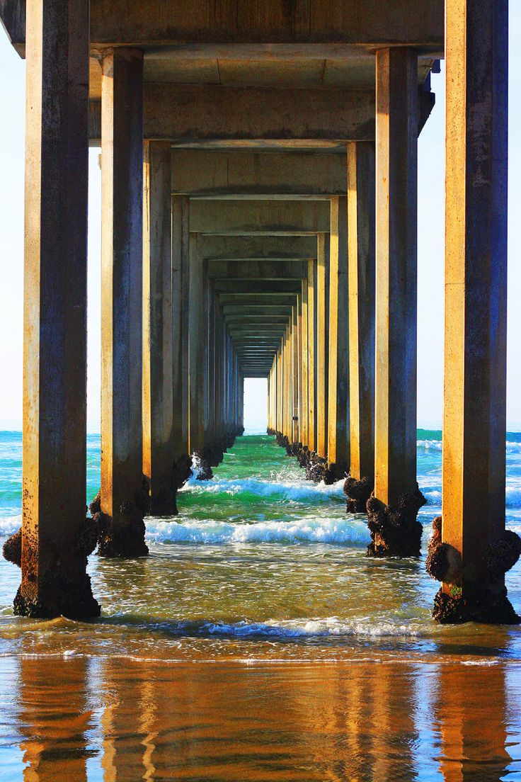 Ocean Photography Beach Prints Pier Large