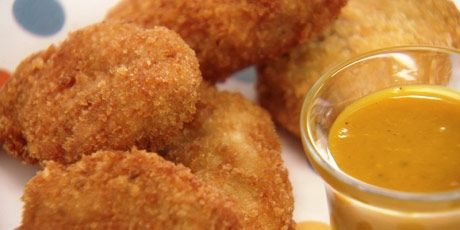 Chicken Nuggets | Chuck Hughes These are some of the BEST homemade chicken nuggets I have ever made!  I even skipped out on marinating the chicken in buttermilk, and they were still really tender.  Yum yum!