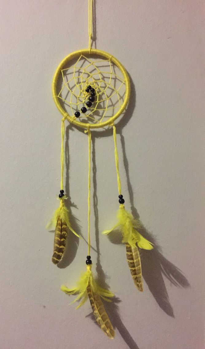 Yellow Chakra Inspired Dreamcatcher