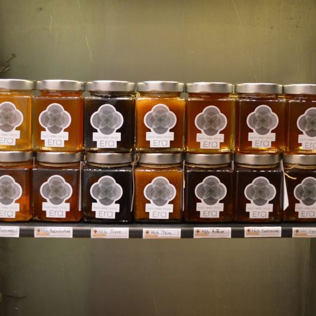 A sweet evening..! Come at #omirou2 , #neopsuchiko and see the #honey #variety we have... #erahoney