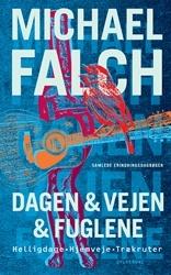 Michael Falch: DAGEN & VEJEN & FUGLENE. I Michael Falchs tre dagbøger skriver han om turnéliv og musikalske koryfæer, om litterære forbilleder og tvangsprægede mønstre, om faderopgør og forsoning, om det svære parforhold, om alkoholiserede helte, skilsmisse og vejen til et ædru liv, om kristendom, fugle og fodbold og om en ny overraskende kærlighed. De tre bøger, der her udgives samlet i en let redigeret form, er erindringsglimt, øjebliksbilleder og eksistentielle refleksioner.
