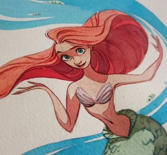 So happy to share with you a sneak peek of my piece for the tribute to Ron Clements and John Musker at Nucleus Gallery ! See the whole drawing on my tumblr :-)