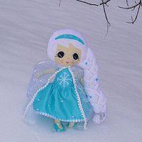 Elsa fabric doll, Elsa handmade, Frozen doll,Handmade fabric dolls,baby first doll, textile doll, cute dolls, soft dolls, hand made rag dolls, plush dill, softie, dolls with removable cloths, dolls made to order, dress up dolls