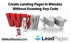 Usin leadpages You Can Create Landing Pages In Minutes Without Knowing Any Code. #immostwanted