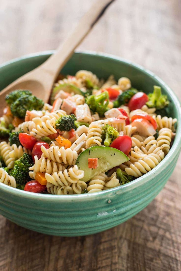 This Greek Pasta Salad with Feta Cheese is bright, tangy, and loaded with fresh veggies!