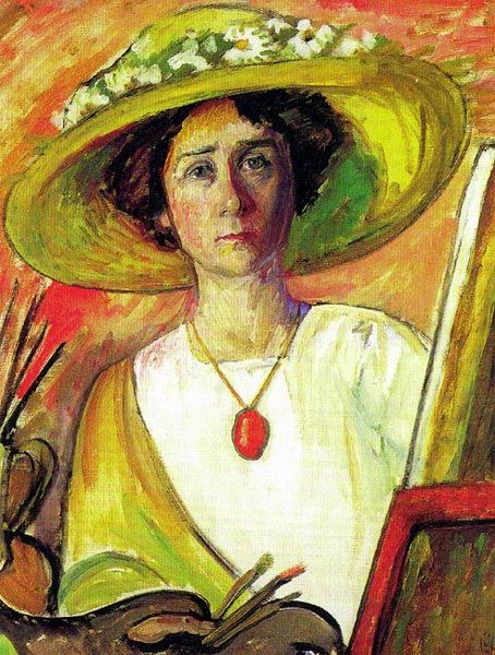 Gabriele Münter,  self portrait. One of the Der Blaue Reiter (The Blue Rider) Expressionist painters.