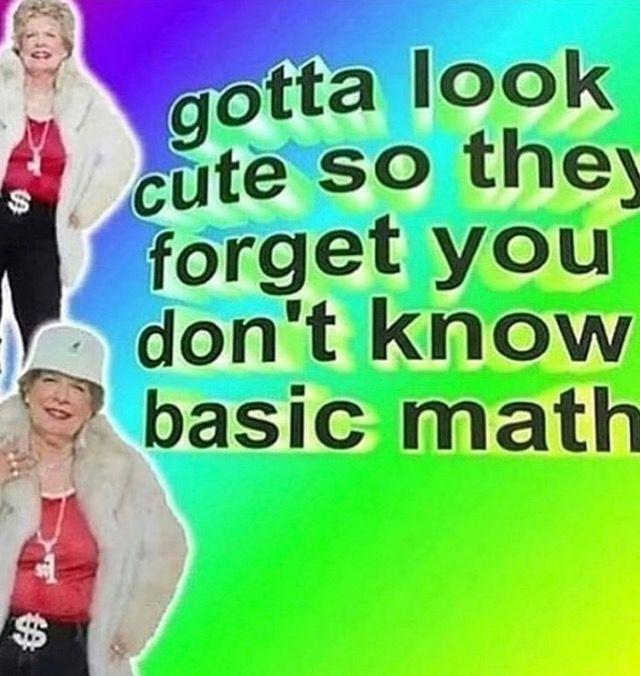 Pin By Bonnie On Random Shit Stupid Memes Basic Math Memes