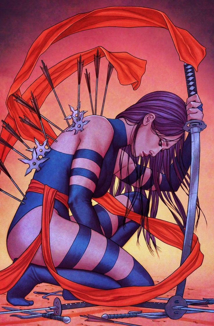 PSYLOCKE // like a butterfly: Psylocke & More Killed Off In 'Death of X' Variant Covers
