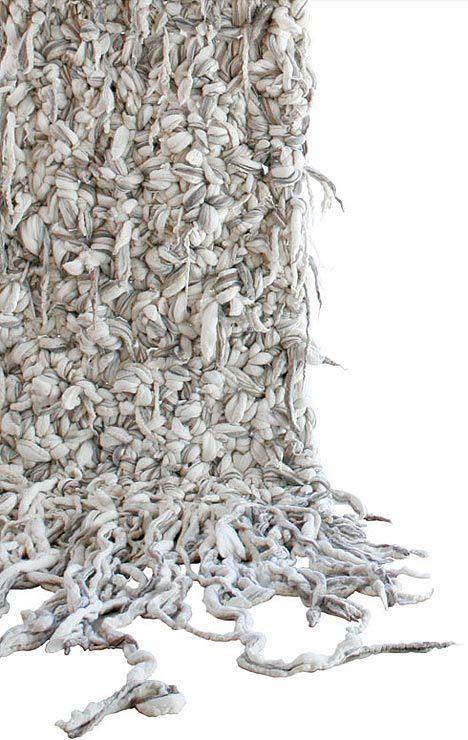 IN KNOTS BY DANA BARNESCate Blanchett, Rag Rugs, Paolo Roversi, Knots Rugs, Fabrics Knots, Textiles Trees, Barnes In Knots, Textiles Artists, Nature Form Textiles