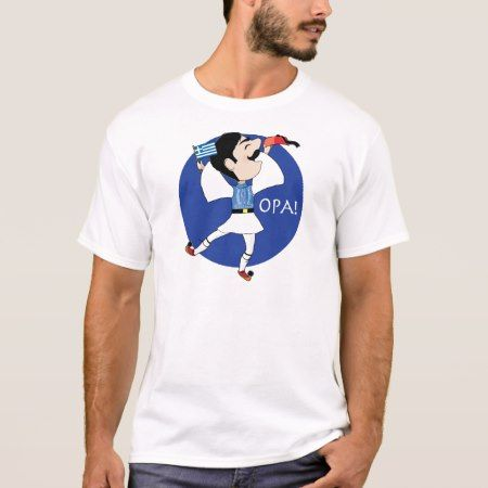 Greek Evzone dancing with Flag OPA! T-Shirt - tap, personalize, buy right now!