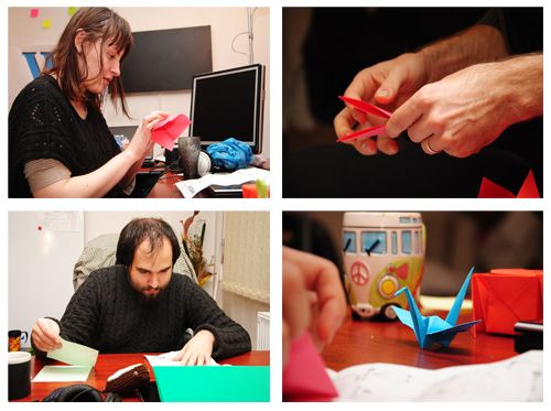 Origami and Puzzle at Squirrly Office