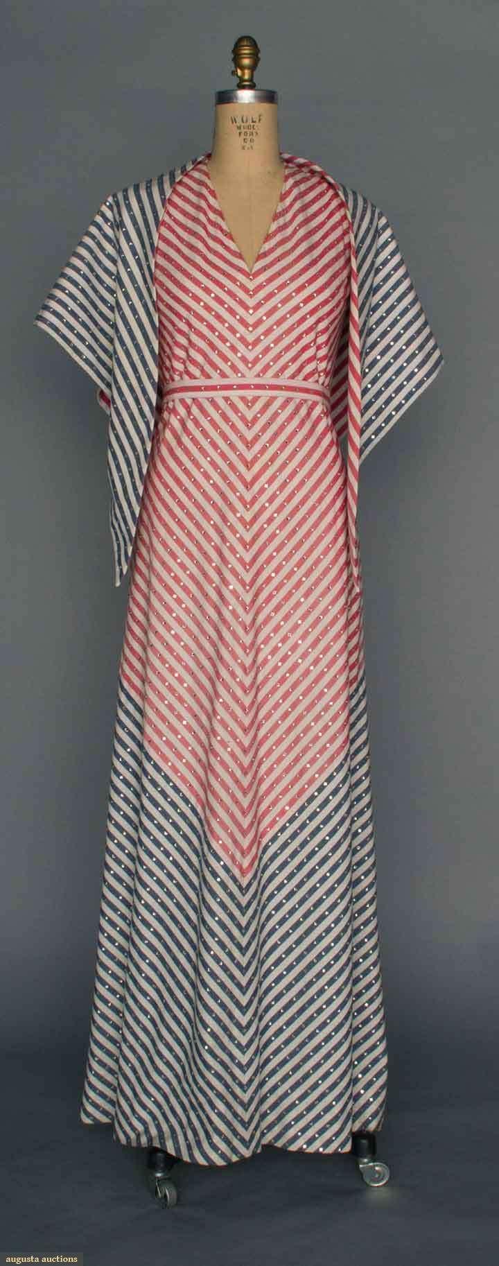 Trigere Bi-centennial Gown, 1976, Augusta Auctions, April 9, 2014 - NYC