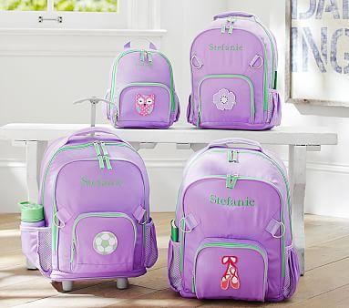Fairfax Lavender/Green Backpacks #pbkids