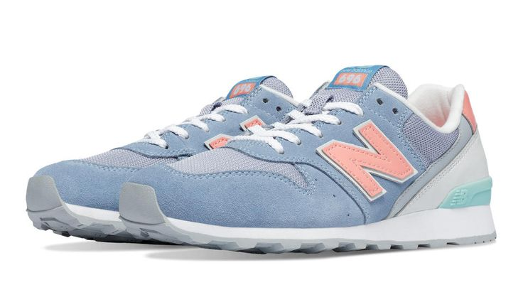 696 New Balance, Icarus Blue with Cosmic Coral & Drizzle