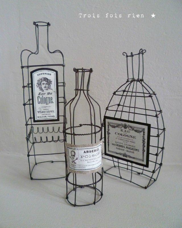 fioles fil de fer recuit (1) - wire bottles