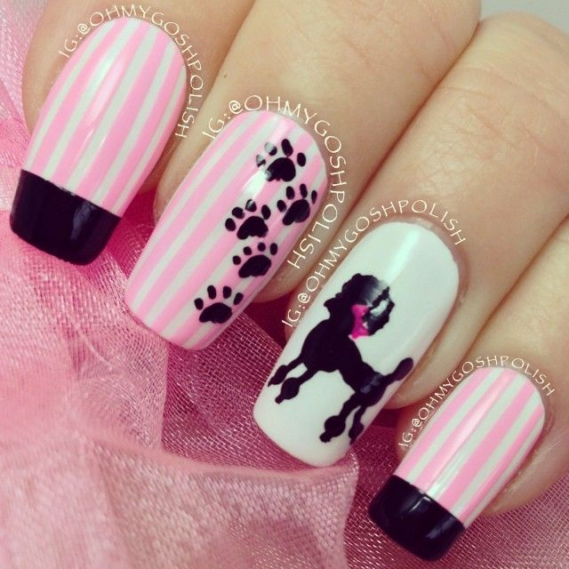 8 Fabulous Dog Nail Art Tutorials You Should Totally Try - BarkPost - 131 Best Pet-Inspired Nail Art Images On Pinterest Dog Nail Art