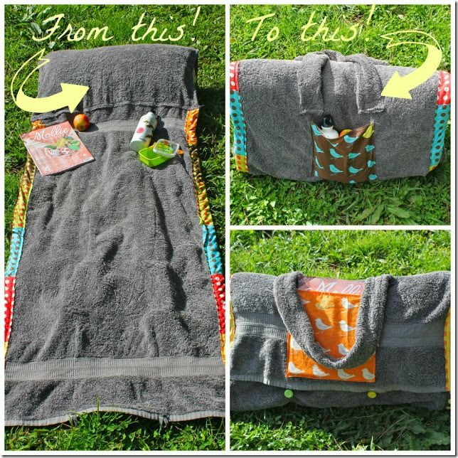 Beach Blanket Experiment: What To Do With: Old Towel Pillow Case.