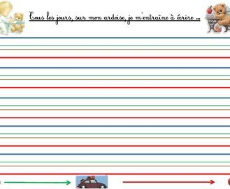 Fabriquer des ardoises effa able ecriture dyspraxie lignes en couleurs graphisme pinterest - Feuille d ardoise a coller ...