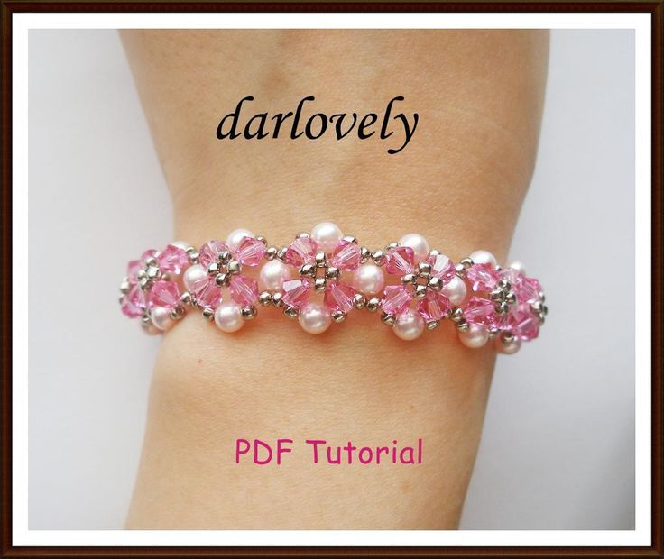 (5) Name: 'Jewelry : Rose Pearl Flower Bracelet (BB124)