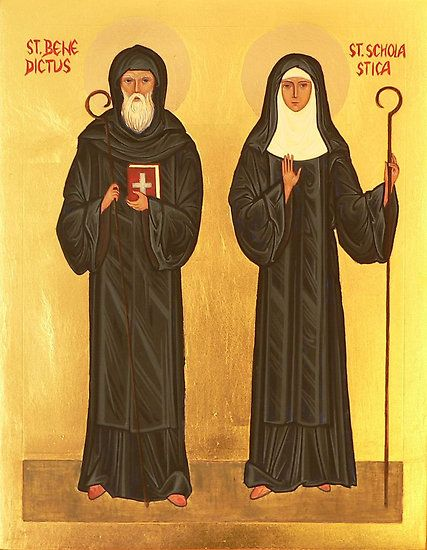 Saint Benedict and Saint Scholastica - Twin Saints