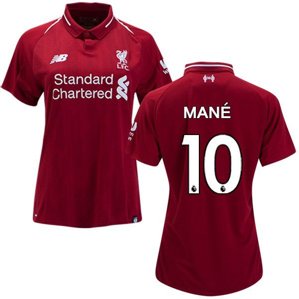 sports shoes 0cf5e 64e5b Sadio+Mane+#10+Women's+2018/2019+Soccer+Liverpool+FC+Home+ ...