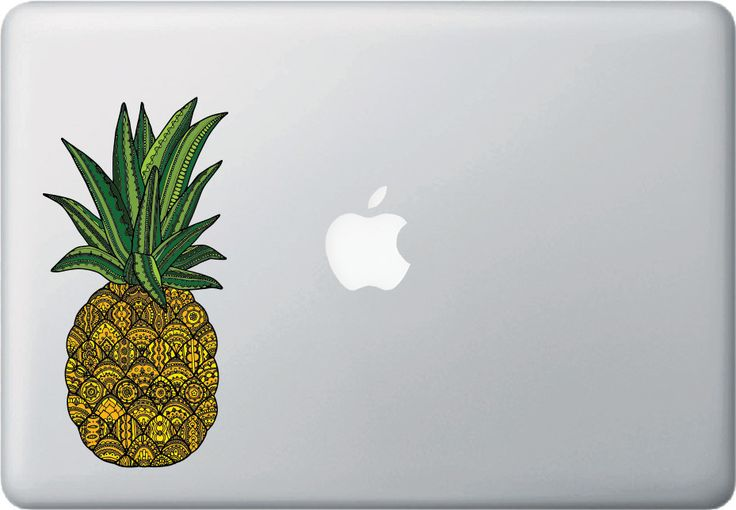 CLR:MB - Patterned Pineapple - Vinyl Macbook Laptop Decal - © 2015 YYDC (Variations Available)