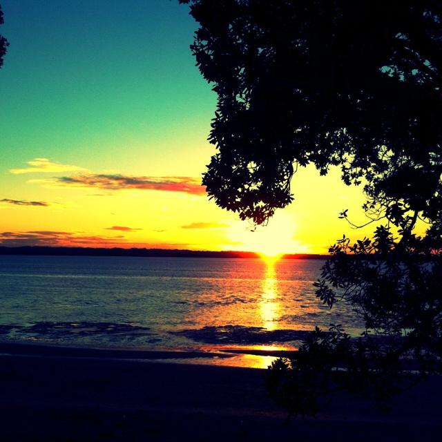 #Sunset over Te Atatu, #Auckland #NZ