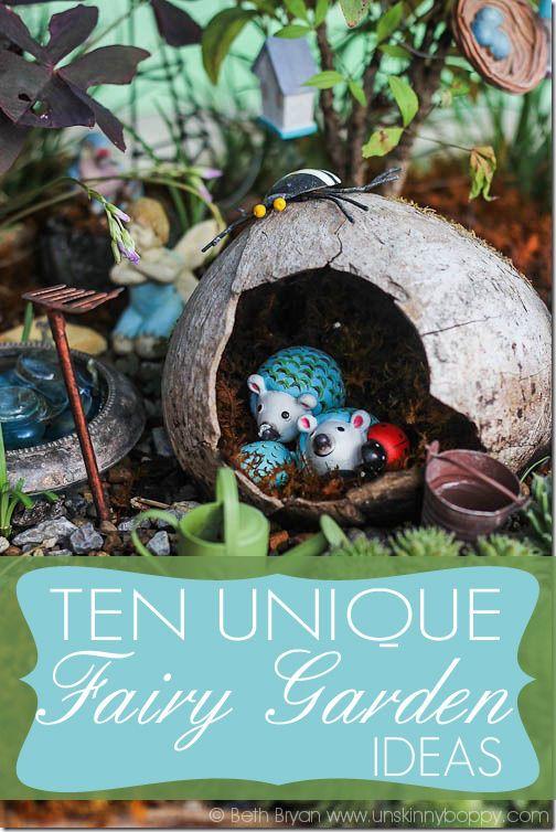 Ten unique and whimsical fairy garden ideas